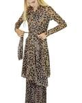 Petit Pois' Leopard Print Duster/Wrap Dress