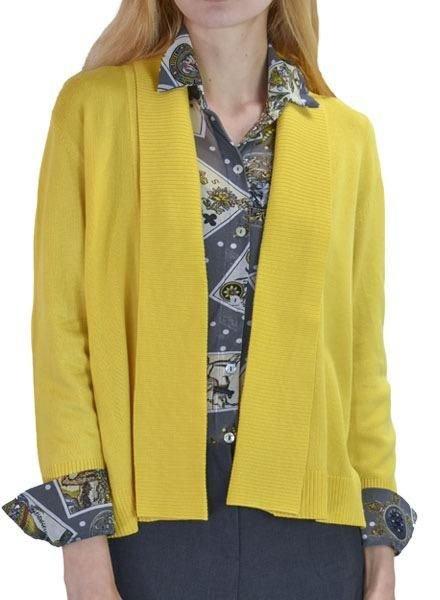 3/4 Sleeve Cardigan in Sunflower