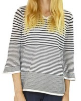 French Dressing French Dressing Down On The Dock Top In Navy & White