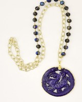 Purple Dragon Necklace