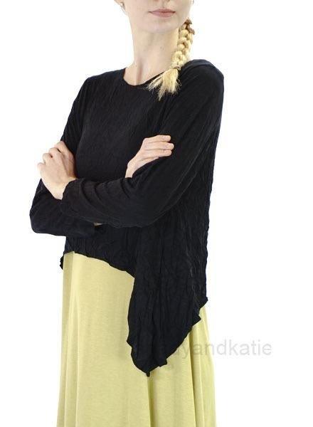 Comfy's Venice Topper In Crinkled Black