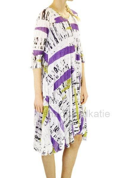 Comfy's Ester Tunic Dress In White Multi Print