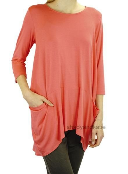 Comfy's Eden Tunic In Coral