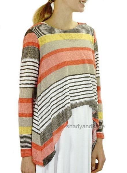 Comfy's Remy Topper In Stripe
