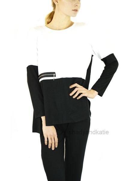 Comfy's Miami Tunic In Black & White