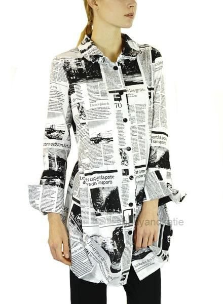 Comfy's Tokyo Shirt In Newsprint