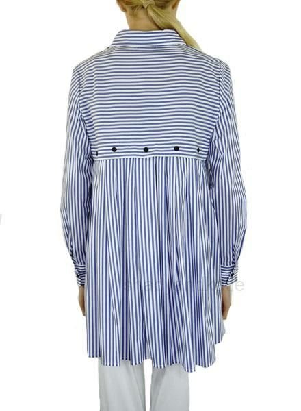 Comfy's Carrie Shirt In Denim Stripe