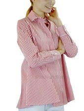 Comfy's Naomi Shirt In Red & White Stripe