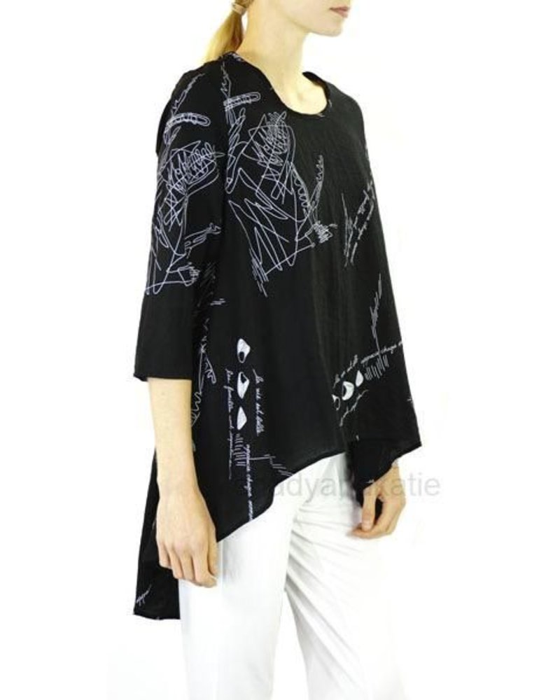 1c0a71a886f Comfy USA Reese Tunic In Black & White - Shady And Katie - Shady and Katie