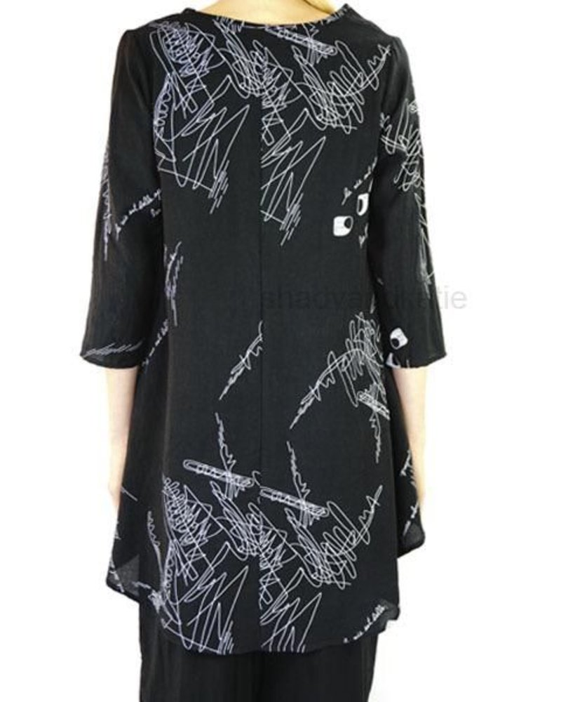71fc16c35f6 Comfy USA Reese Tunic In Black & White - Shady And Katie - Shady and ...