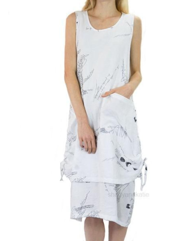 f148eded5a2 Comfy USA Melissa Dress In White & Black - Shady And Katie - Shady and Katie