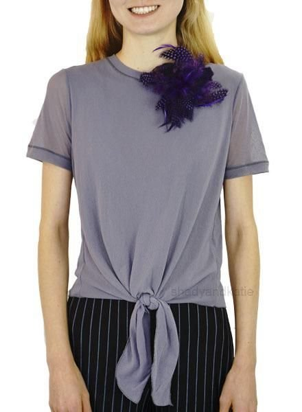 Petit Pois Tie Tee Shirt In Lavender