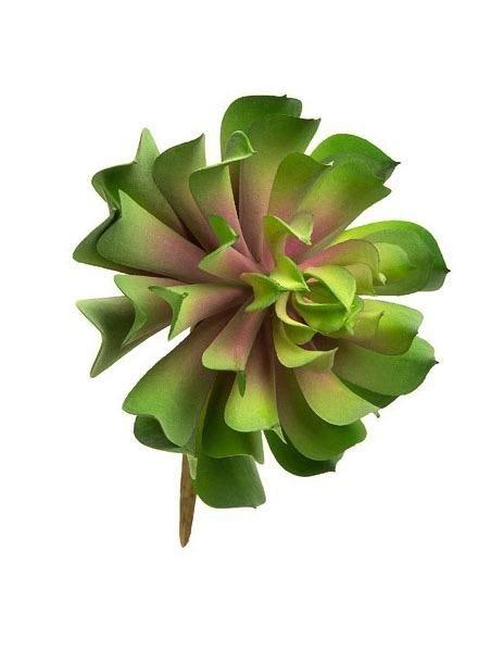 """4"""" Faux Lotus Rosette Succulent"""