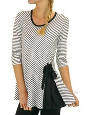 Comfy's Angie Top In B&W Stripe