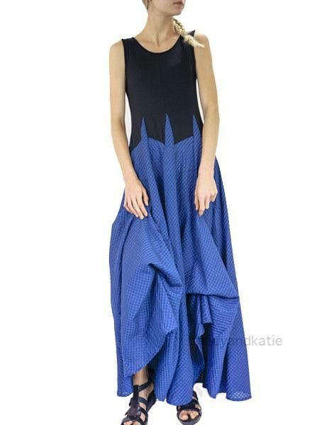 Comfy's Jasons Rita Dress In Black & Blue