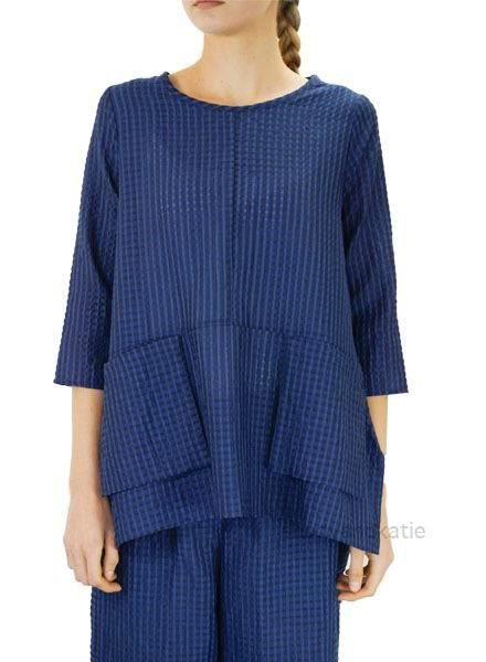 Comfy's Jason Carol Tunic In Blue