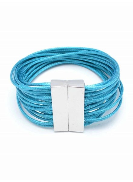 Magnetic Layered Rope Bracelet In Turquoise