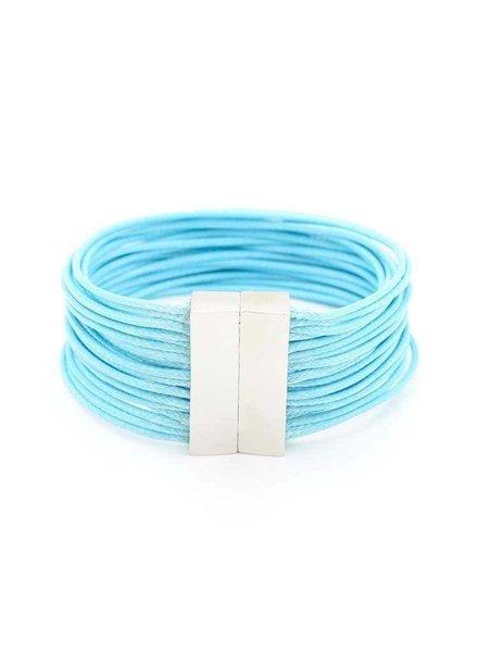 Magnetic Layered Rope Bracelet In Light Blue