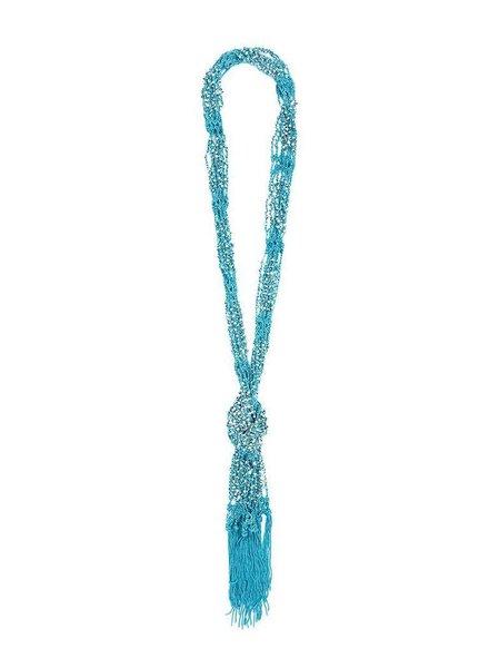 Scarf Necklace In Aqua