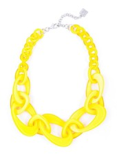 Mod Resin Links Necklace In Yellow