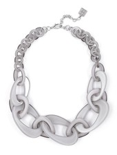 Mod Resin Links Necklace In Grey