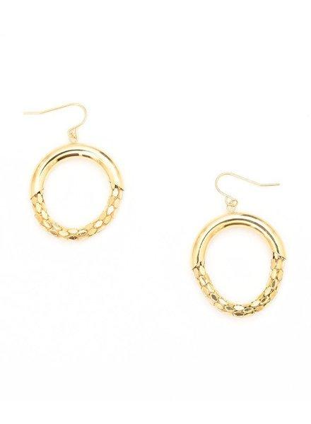Mesh Hoop Earrings In Gold