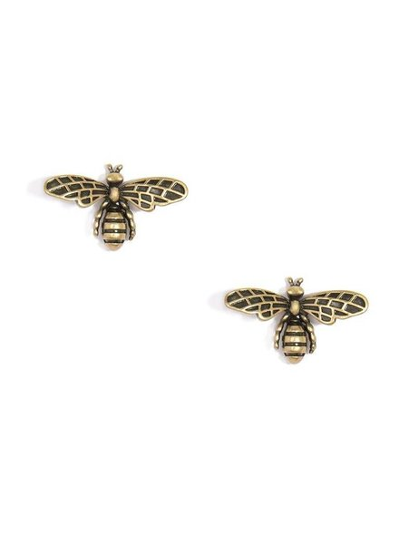 Burnished Gold Bee Earrings