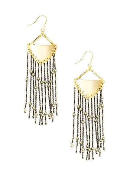 Boho Fringe Earrings In Gold