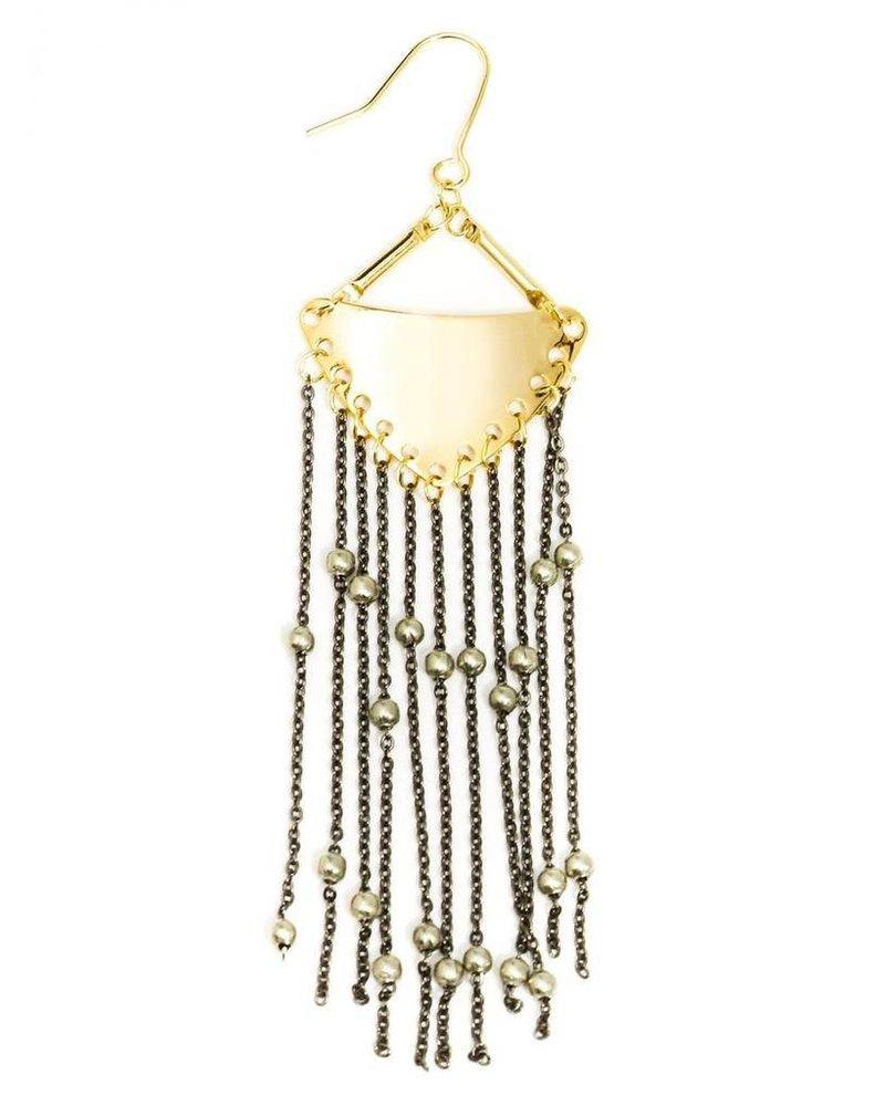 Boho Fringe Earrings In Gold