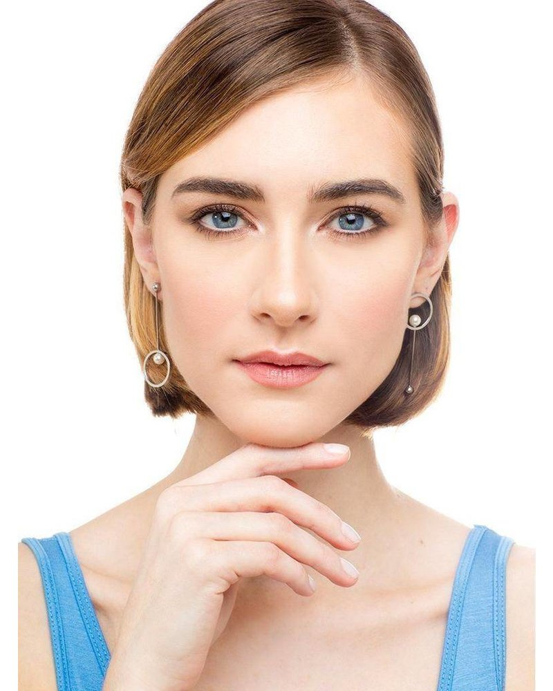 Pearl In The Looking Glass Earrings
