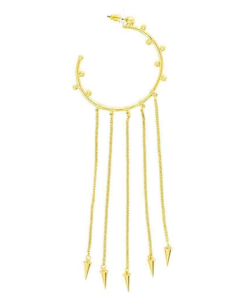 Dot-In Fringe Hoop Earrings