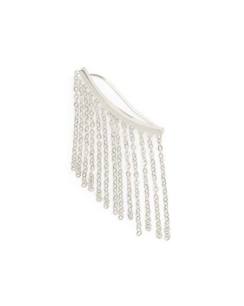 Fringing Matter Earring Crawler In Silver
