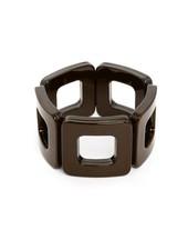 My Modern Stretch Bracelet In Chocolate Brown