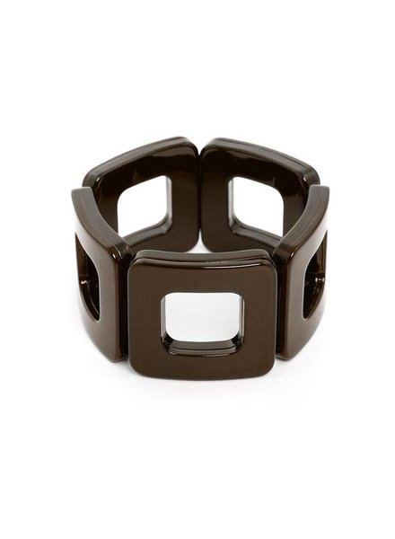 My Modern Stretch Bracelet In Chocolate Brown