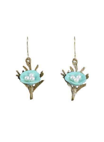 Delicate Spring Earrings In Robin Egg Blue