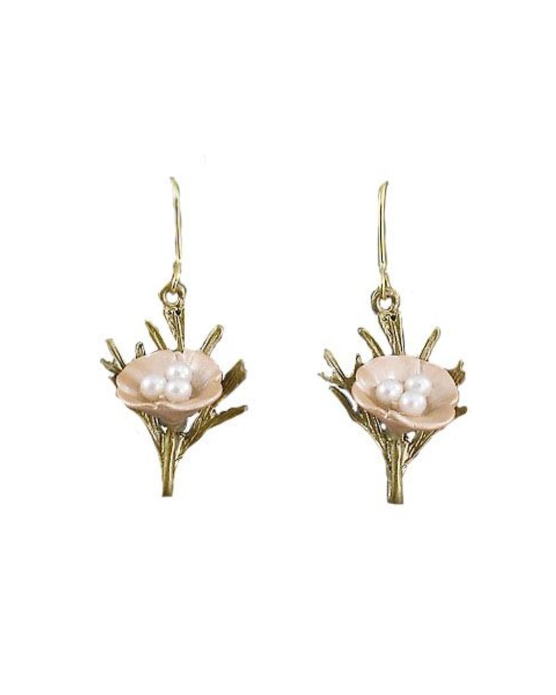 Delicate Spring Earrings In Pale Pink