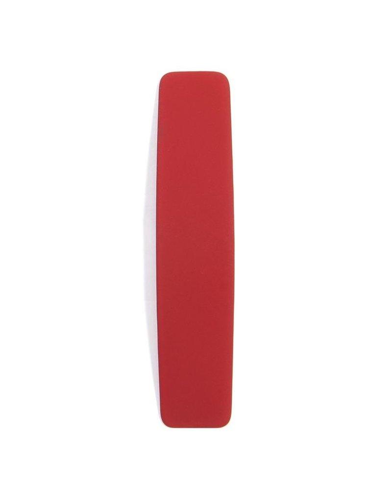 Curved Matte Metal Drop Earrings In Red