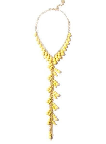 Dew Drops Lariat Necklace In Yellow