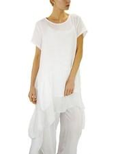 Italian Silk Hemmed Dress/Top In White