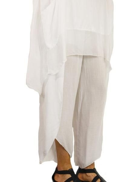 Italian Tierred Pant in White