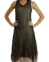 Ethereal Dress In Black & Mocha