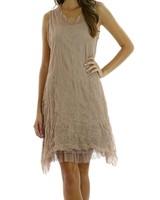 Short Ethereal Dress In Mocha