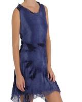 Short Ethereal Dress In Blue Tye Dye