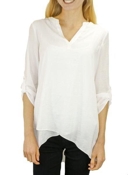 Renuar Soft As Silk Blouse In White