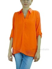 Renuar Renuar Soft And Beautiful Blouse In Hot Coral