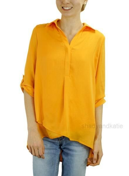 Renuar Renuar's Soft And Beautiful Blouse In Mandarine