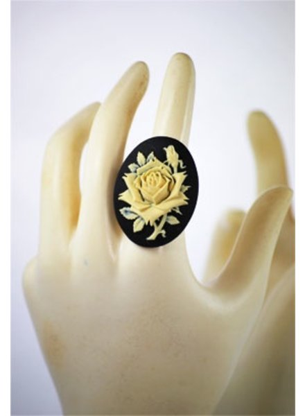 """KaKaCameo"" Vintage Re-Purposed Cameo Ring"