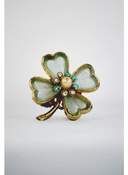 """Lucky Charm"" Vintage Re-Purposed Ring"