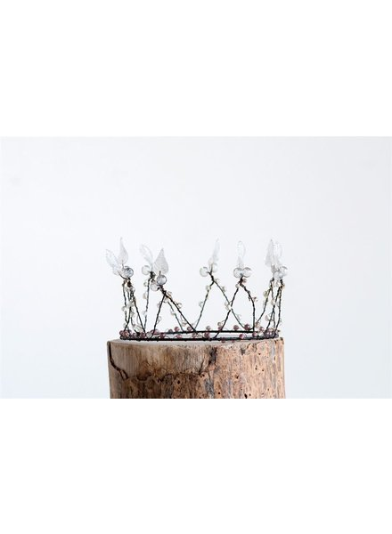 Little Glass Beaded Wire Crown