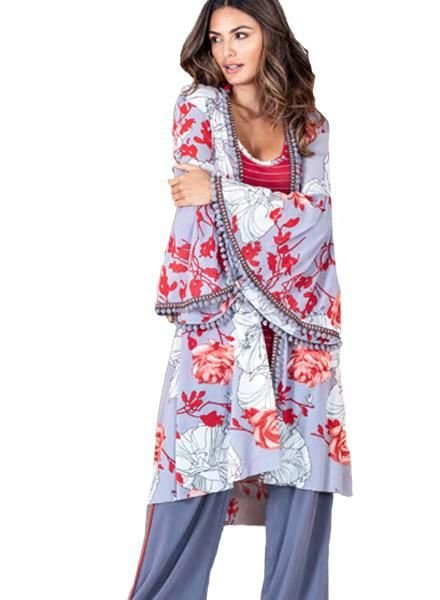 Petit Pois Pompom Kimono From The Valentine Collection